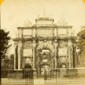 Italy Arco di Trionfo Firenze Florence Archh old Stereo Photo Block 1865