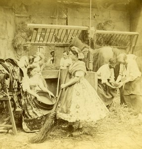 France Paris Sabot Horse Shoeing old Stereo Photo 1865