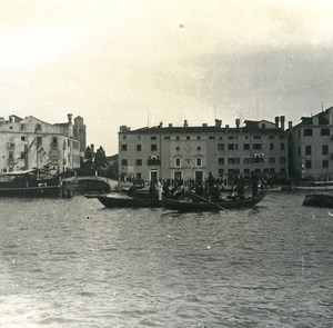 Italy Venice Piety Bridge & Wharf Schiavoni old Possemiers Stereo Photo 1908