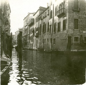 Italy Venice Rio di San Marina old Possemiers Stereo Photo 1908