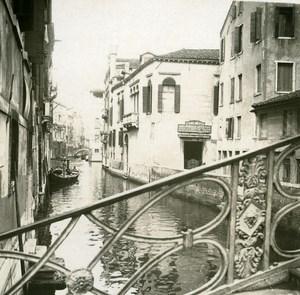 Italy Venice Rio del Pestrin old Possemiers Stereo Photo 1908