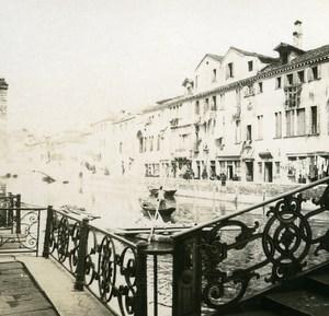 Italy Venice Fundamenta Cappuccine Promenade old Possemiers Stereo Photo 1908
