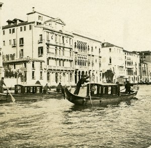 Italy Venice Gand Canal Palace d Oro old Possemiers Stereo Photo 1908