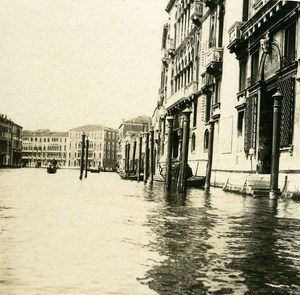 Italy Venice Palace Giustiniani & Foscari old Possemiers Stereo Photo 1908