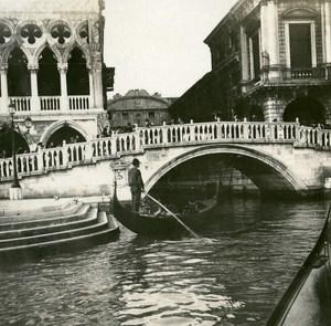 Italy Venice Ponte della Paglia Bridge of Sighs old Possemiers Stereo Photo 1908
