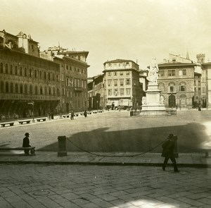 Italy Firenze Place Holy Cross old Possemiers Stereo Photo 1908