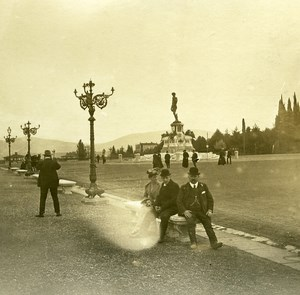 Italy Firenze Piazza Michelangelo old Possemiers Stereo Photo 1908