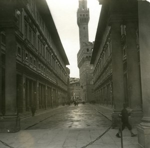 Italy Firenze the Offices old Possemiers Stereo Photo 1908