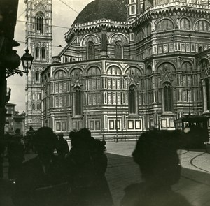 Italy Firenze the Choir of Duomo old Possemiers Stereo Photo 1908