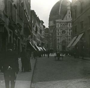 Italy Firenze Via Corretani old Possemiers Stereo Photo 1908
