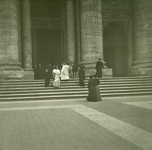 Italy Roma Vatican St Peter's Basilica old Possemiers Stereo Photo 1908