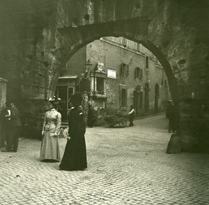 Italy Roma Via Baccina & Arco di Lantani old Possemiers Stereo Photo 1908