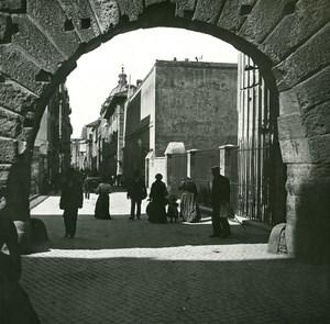 Italy Roma Via Bonella old Possemiers Stereo Photo 1908
