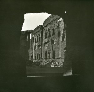 Italy Roma Baths of Caracalla Ruins old Possemiers Stereo Photo 1908
