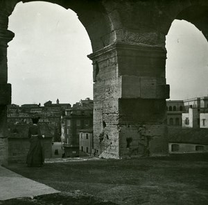 Italy Roma Coliseum Panorama Arenaold Possemiers Stereo Photo 1908