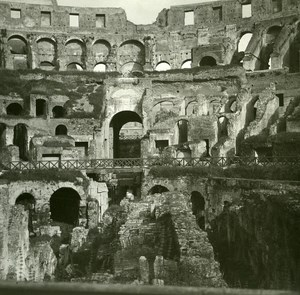 Italy Roma Coliseum Interior Arenaold Possemiers Stereo Photo 1908