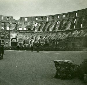 Italy Roma Coliseum Interior Arena old Possemiers Stereo Photo 1908