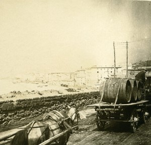 Italy Genoa Port on the road to Lighthouse old Possemiers Stereo Photo 1908