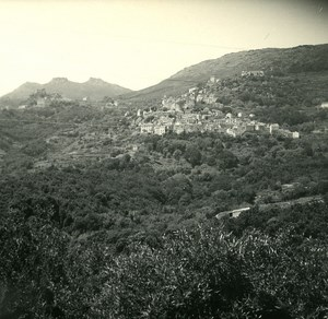France Corse Rogliano Panorama ancienne photo stereo Amateur 1920