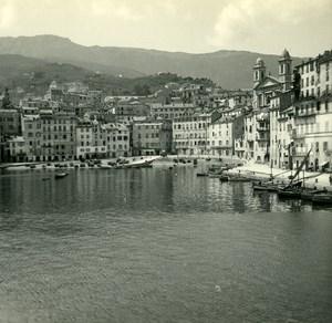 France Corse Bastia le Vieux Port & la Terra Vecchia ancienne photo stereo Amateur 1920