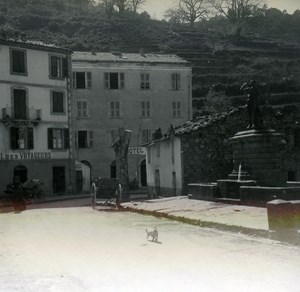 France Corse Vivario la Fontaine ancienne photo stereo Amateur 1920