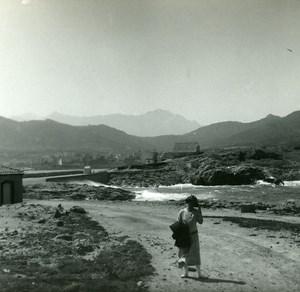 France Corse Ile Rousse le Libeccio ancienne photo stereo Amateur 1920