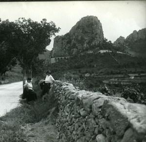 France Corse Francardo Viaduc ancienne photo stereo Amateur 1920