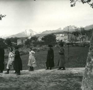 France Corse Calacuccia Panorama ancienne photo stereo Amateur 1920