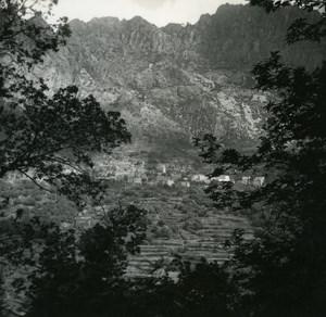 France Corse Otta route Porto Evisa ancienne photo stereo Amateur 1920