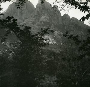 France Corse Capo d Orto Route Porto Evisa ancienne photo stereo Amateur 1920