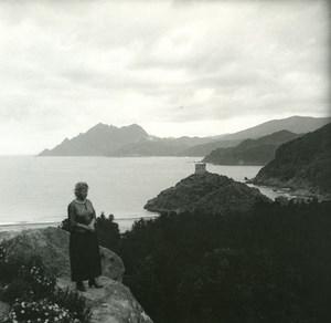 France Corse Golfe de Porto ancienne photo stereo Amateur 1920