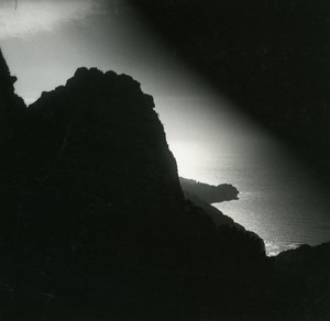 France Corse Calanques de Piana effet de soleil ancienne photo stereo Amateur 1920