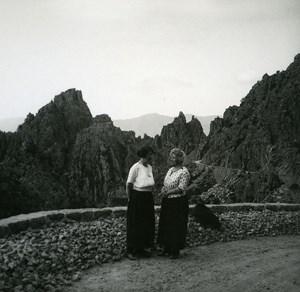 France Corse Calanques de Piana les Aiguilles ancienne photo stereo Amateur 1920