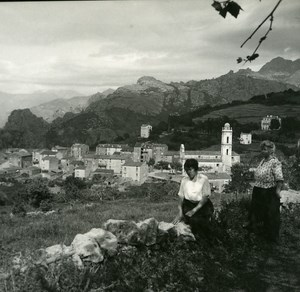 France Corse Calanques de Piana panorama ancienne photo stereo Amateur 1920