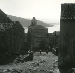 France Corse Cargese Eglise Grecque ancienne photo stereo Amateur 1920