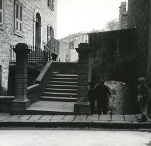 France Corse Sartene Cours Sainte Anne ancienne photo stereo Amateur 1920