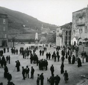 France Corse Sartene Place Porta ancienne photo stereo Amateur 1920
