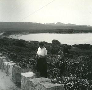 France Corse Golfe de Ventilegine ancienne photo stereo Amateur 1920