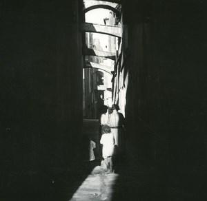 France Corse Bonifacio rue Archivolta ancienne photo stereo Amateur 1920
