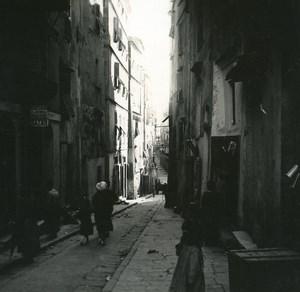 France Corse Bonifacio rue Doria ancienne photo stereo Amateur 1920