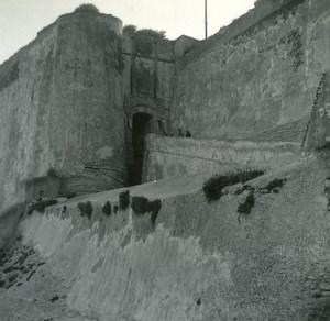 France Corse Bonifacio la Vieille Porte ancienne photo stereo Amateur 1920