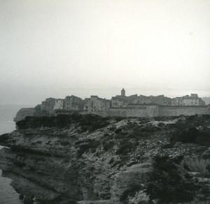 France Corse Bonifacio Panorama ancienne photo stereo Amateur 1920