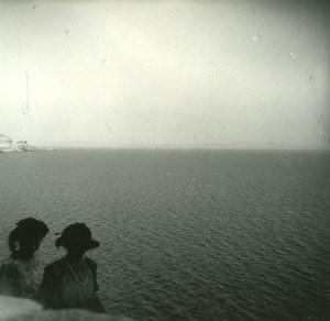 France Corse les Bouches de Bonifacio ancienne photo stereo Amateur 1920