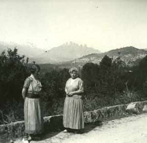 France Corsica San Gavino Road Old Stereo Photo 1920