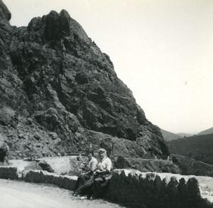 France Corse Sortie de l Inzecca ancienne photo stereo Amateur 1920