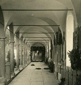 Switzerland Luzern Cloister Old NPG Stereo Photo 1906