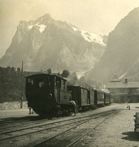 Switzerland Grindewald Train Station Old NPG Stereo Photo 1906
