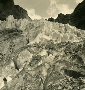Switzerland Grindewald Glacier Old NPG Stereo Photo 1906
