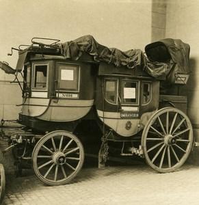 Switzerland Stagecoach Postkutsche Camerlata Fluelen NPG Stereo Photo 1906