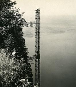 Switzerland Burgenstock Hammetschwand Elevator Old Wehrli Stereo Photo 1906